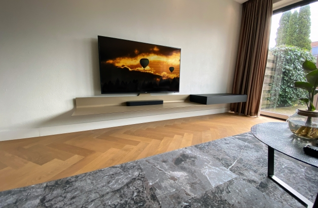 Spectral Air tv meubel zwevend metaal 3.20m