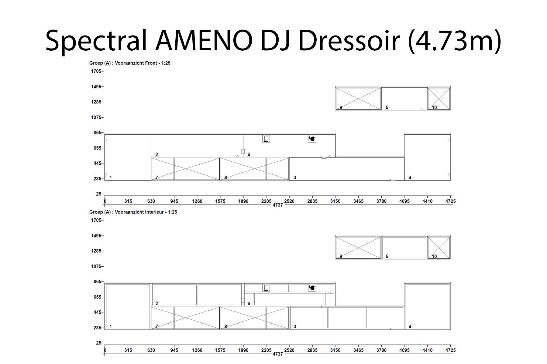 Spectral Ameno wandmeubel