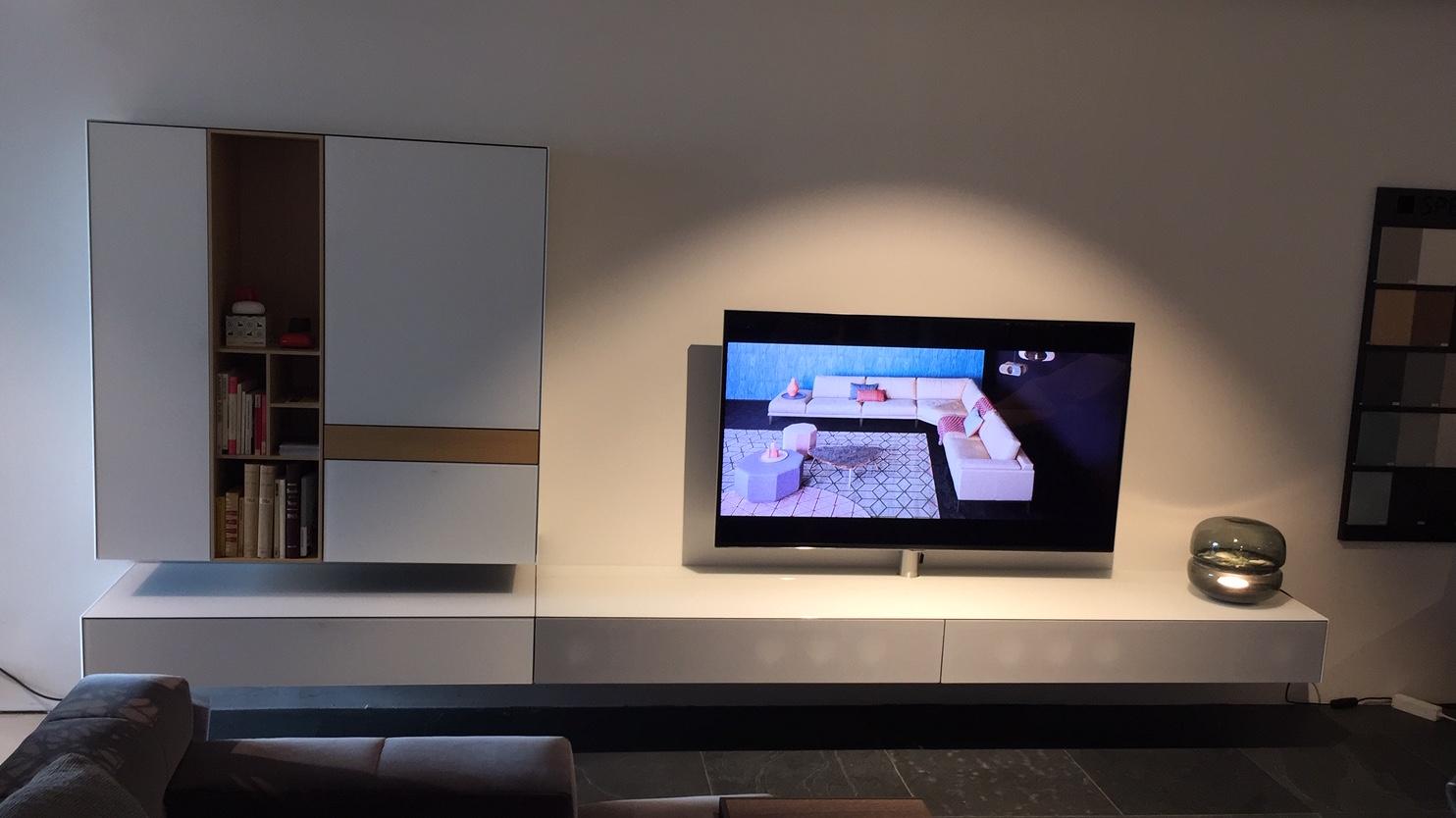 Ameno combinatie TV-dressoir + wandkast incl soundsysteem