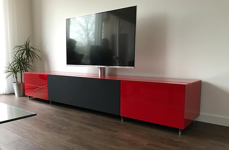 Tv Meubel Rood : Tv meubels hoogglans vanaf cm t m cm rood