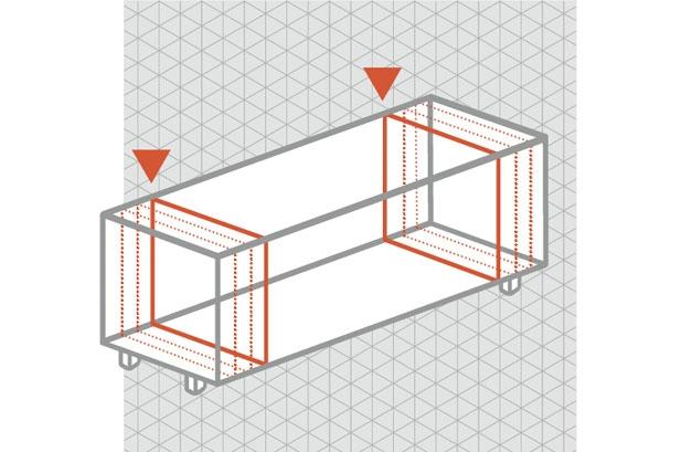 Spectral tv meubel op maat in breedte