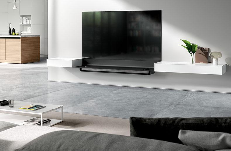 LG Oled W8 Signature Tv vs SPECTRAL Air Signature design tv-meubel