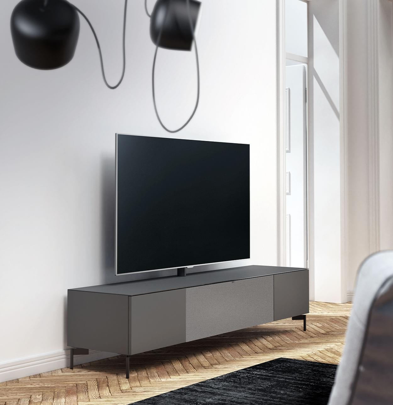 tv-meubel mat grijs