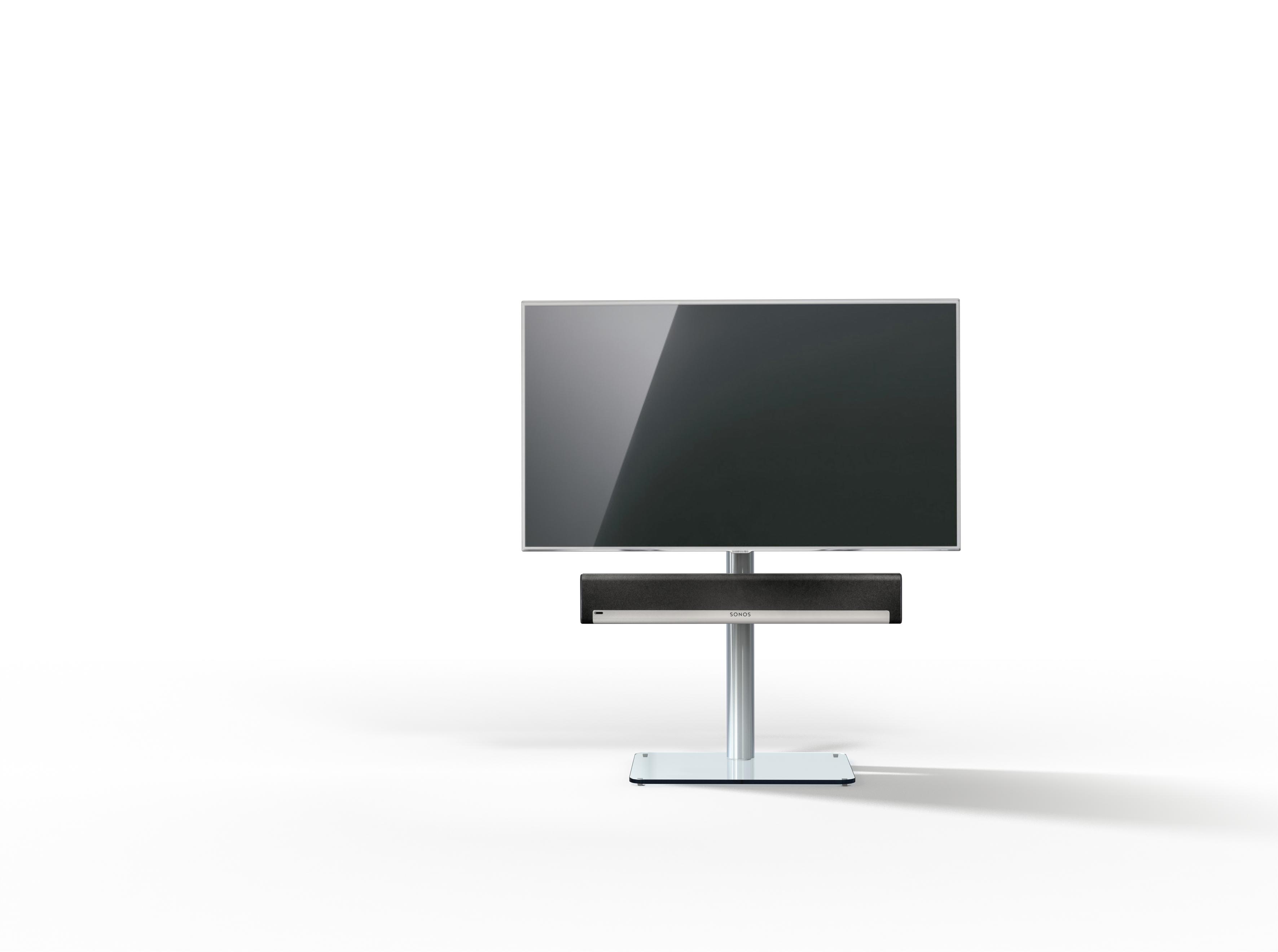Just-Racks TV600SP-KG vloerstandaard in helder glas