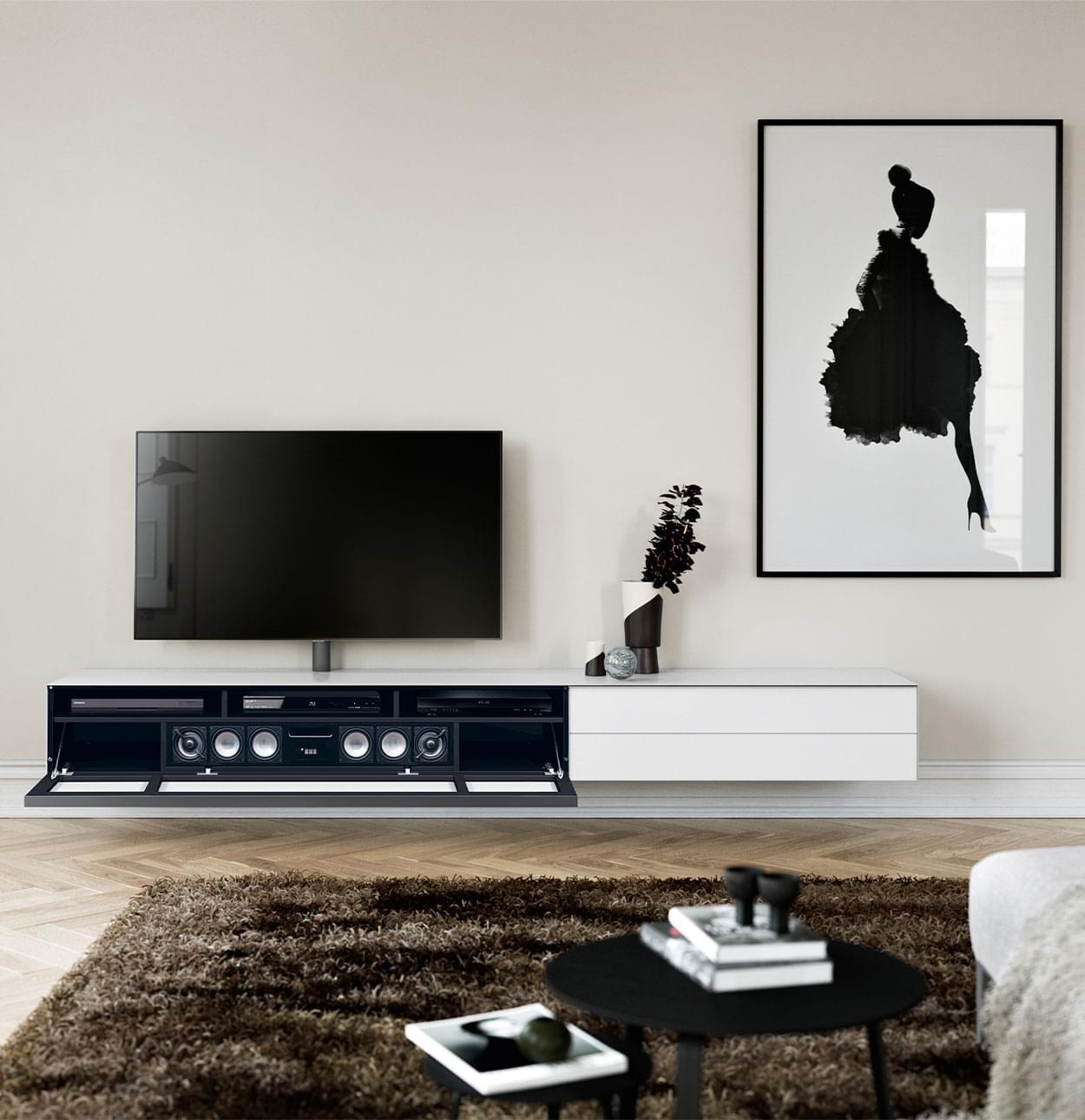 zwevend tv meubel scala